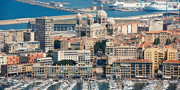A view of the harbor in Marseille, France. - Photo: Shutterstock