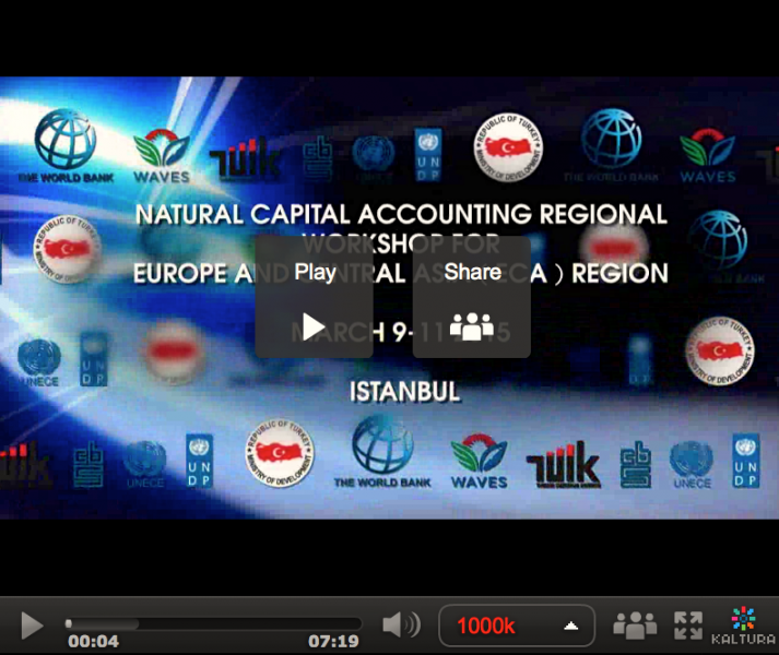 Video from Natural Capital Accounting Regional Workshop for Europe and Central Asia