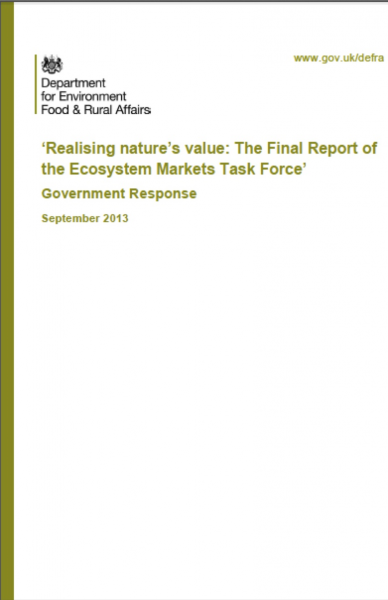 UK DEFRA Report on Nature's Value