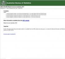 Waste Account, Australia, 2010-11