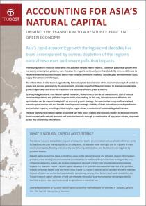 Accounting for Asia's natural capital