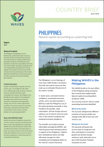 Country Brief: Philippines - Natural capital accounting as a planning tool