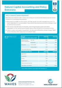 Natural Capital Accounting and Policy: Botswana
