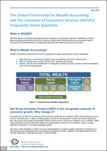The Global Partnership for Wealth Accounting and the Valuation of Ecosystem Services (WAVES) - Frequently Asked Questions