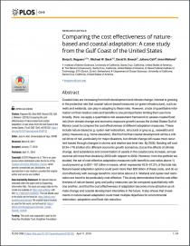 Comparing the cost effectiveness of nature-based and coastal adaptation: A case study from the Gulf Coast of the United States