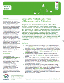 Policy Brief: Valuing the Protection Services of Mangroves in the Philippines