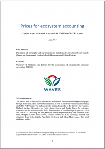 Prices for ecosystem accounting (draft)