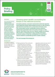 Growing green wealth: accounting for forests in the national economy