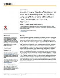 Ecosystem Service Valuation Assessments for Protected Area Management: A Case Study Comparing Methods Using Different Land Cover Classification and Valuation Approaches