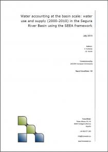 Water accounting at the basin scale: Water use and supply (2000-2010) in the Segura River Basin using the SEEA framework