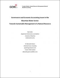 Governance and Economic Accounting Issues in the Mauritian Water Sector: Towards Sustainable Management of a Natural Resource