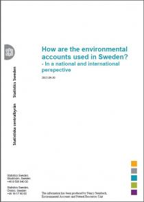 How are the environmental accounts used in Sweden
