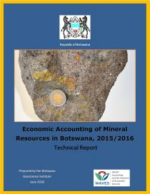 Economic Accounting of Mineral Resources in Botswana, 2015/2016 - Technical Report