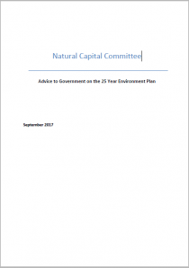 Natural Capital Committee: Advice to Government on the 25 Year Environment Plan