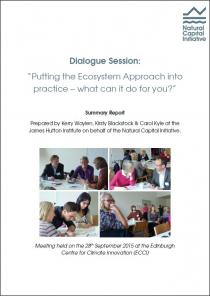 "Dialogue Session: ""Putting the Ecosystem Approach into practice – what can it do for you?"""