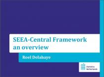 SEEA-Central Framework: An Overview