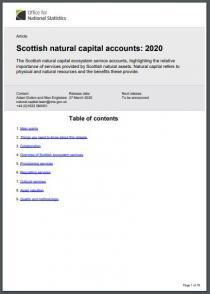 Scottish natural capital accounts: 2020