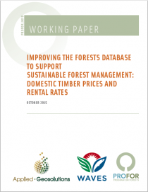 Improving the Forest Database to Support Sustainable Forest Management: Domestic Timber Prices and Rental Rates