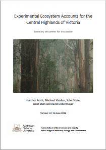 Experimental Ecosystem Accounts for the Central Highlands of Victoria
