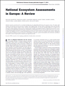 National Ecosystem Assessments in Europe: A Review