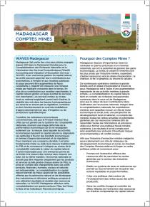 Madagascar Comptes Mines