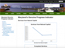 Maryland's Genuine Progress Indicator: Services from Natural Capital