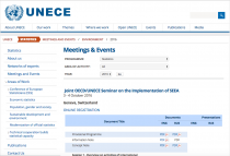 Joint OECD/UNECE Seminar on the Implementation of SEEA