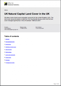 Natural Capital Land Cover in the United Kingdom