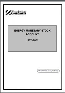 New Zealand Energy Monetary Stock Account: 1987–2001