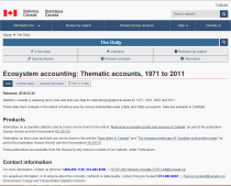 Ecosystem accounting: Thematic accounts, 1971 to 2011