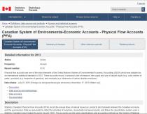 Canadian System of Environmental-Economic Accounts - Physical Flow Accounts