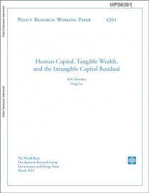 Human capital, tangible wealth, and the intangible capital residual, Volume 1 (Policy Research Working Paper)