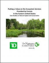 Putting a Value on the Ecosystem Services Provided by Forests in the Eastern United States: Case Studies on Natural Capital and Conservation
