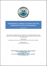 Experimental Energy Accounts for the Federated States of Micronesia