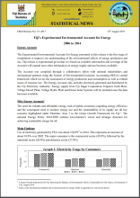 Fiji's Experimental Environmental Account for Energy (2006 to 2014)