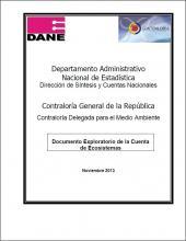 Documento Exploratorio de la Cuenta de Ecosistemas