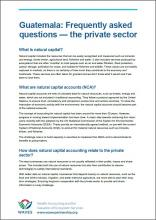 Guatemala: Frequently Asked Questions - The Private Sector