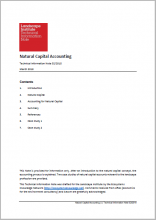 Natural Capital Accounting: Technical Information Note
