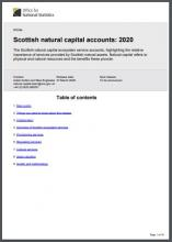 Scottish natural capital accounts: 2020