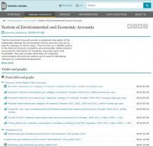 Statistics Sweden: System of Environmental and Economic Accounts