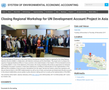 Closing Regional Workshop on SEEA in Jakarta, Indonesia