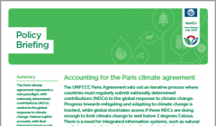 Policy Briefing: Accounting for the Paris climate agreement