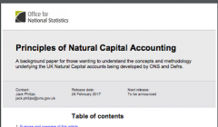 Principles of Natural Capital Accounting