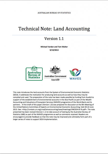 ABS Technical Note: Land Accounting