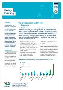Policy Briefing: Water resources and mining in Botswana