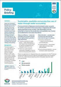 Policy Briefing: Sustainable, equitable and productive use of water through water accounting