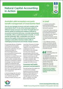 Natural Capital Accounting in Action: Australia