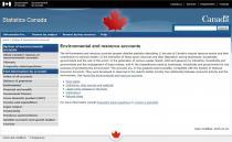 Statistics Canada: Environmental and Resource Accounts