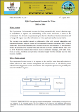 Fiji's Experimental Account for Water (2013 to 2016)