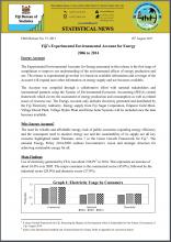 Fiji's Experimental Environmental Account for Energy (2006 to 2014)